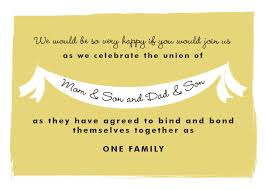 wedding quotes joining families this invitation wording for your own blended family wedding