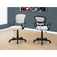 white fabric office chair monarch specialties white multi position office chair i 7261