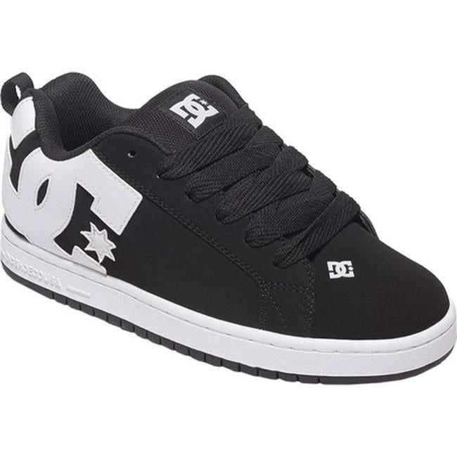 DC Court Graffik Skate Shoe Black, 10.5