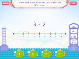 count back to subtract worksheets first grade math