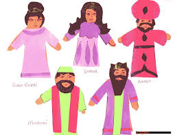 purim puppets esther clipart