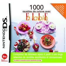 jeux de recette de cuisine 1000 recettes de cuisine avec à table sur nintendo ds jeux