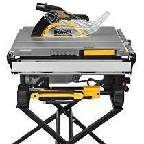 dewalt jobsite table saw accessories dewalt dwe7490x 10 inch job site table saw with scissor stand