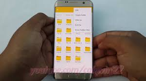 create folder on android samsung galaxy s7 edge how to add rename or delete folder