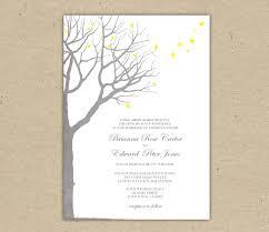 Tree Wedding Invitations Tree Wedding Invitation Templates