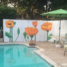 block fence mural garden fence pinterest backyard fence art my version of a fence mural for granny s pool fence it was fun to do