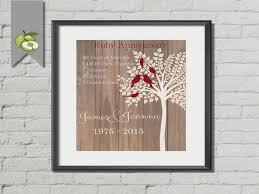 40th anniversary gifts for parents wedding 40th wedding anniversary gift ideas adulation 5th
