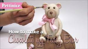 how to make a fondant teddy bear topper out of an chocolate easter