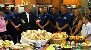 praises coast guard on thanksgiving visit