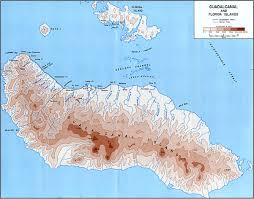 Florida Elevation Map by British Solomon Islands Protectorate