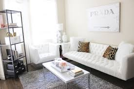 White Couch Living Room Apartment Update 2015 Blondie In The City
