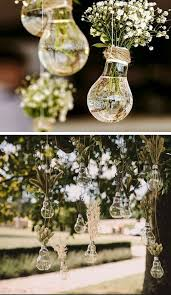 Backyard Wedding Centerpiece Ideas 20 Diy Wedding Decorations On A Budget Hanging Light Bulbs