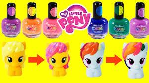 diy my little pony color changing makeover mood nail polish toys