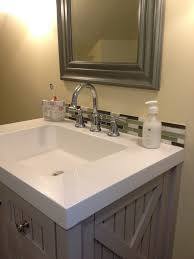 articles with white subway tile backsplash in bathroom tag