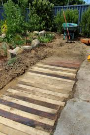 the homestead survival how to build a wooden garden walkway