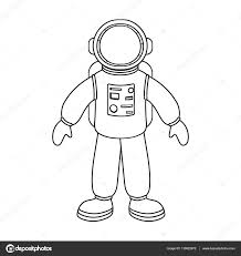 astronaut clipart outline pencil and in color astronaut clipart