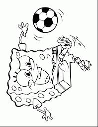 impressive spongebob soccer coloring pages with spongebob