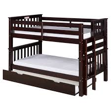 Camaflexi Santa Fe Mission Low Bunk Bed Twin Over Twin Bed End - Low bunk beds