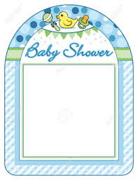 Baby Shower Picture Frames Baby Shower Boy Frame Print Sheet Royalty Free Cliparts Vectors