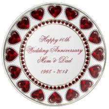 40th anniversary plate 40th anniversary plates zazzle