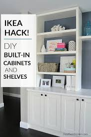 how are ikea wall cabinets ikea diy built in hack using ikea cabinets and shelves