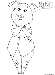 sing colouring pig rosita coloring pages printable