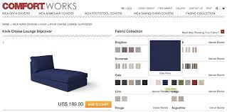 Kivik Sofa Cover by Gaia Navy And Rouge Indigo New Fabrics From Comfort Works