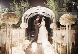 wedding arches with lights the lighted wedding arch and magical floor lights turned this