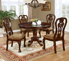elana cm3212rt 5pc dining table set in brown cherry w options