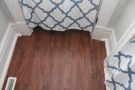 Laminate Flooring Door Frame Humblebee Home Bathroom Reveal 1