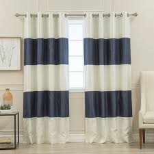 Grommet Top Valances Aurora Home Striped Dupioni Grommet Top Blackout Curtain Panel