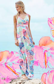 lilly pulitzer sloane v neck maxi dress multi roar of the seas