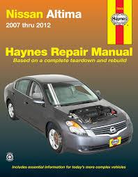 nissan altima 07 12 haynes repair manual haynes manuals