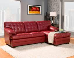 Red Leather Chair 2 Pc Brooks Collection Red
