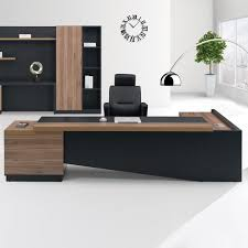 Office Desk Fashion High End Office System Furniture L Shape Manager Executive