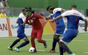 Paralympics Blind Football Blind Iranian Paralympic Footballer Channels Inner Lionel Messi