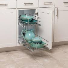 kitchen cabinet storage solutions lowes simply put 11 in w x 19 1875 in h 2 tier pull out metal soft baskets organizers