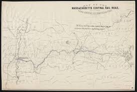 map of northton ma map of the massachusetts central railroad from