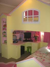 Princess Bunk Bed Playhouse Traditional Kids Girls Villa Loft - Kidspace bunk beds