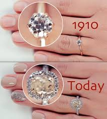 engagement rings 100 witness the evolution of the engagement ring 100 years in 3