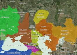 map of kazan kingdoms of central asia the mongols
