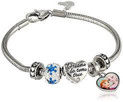 stainless steel bangle charm bracelet images Disney girls 39 frozen stainless steel bead charm bracelet jpg