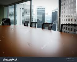 modern boardroom table boardroom table five chairs no people stock photo 291229994