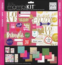 12x12 Scrapbook Mambi 12 X 12 In Scrapbook Kit Colorful Metallics Friends