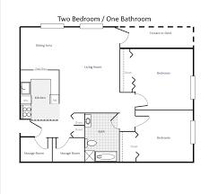bed 2 bed room floor plan