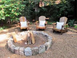 Installing Pea Gravel Patio How To Build A Pea Gravel Fire Pit Home Fireplaces Firepits