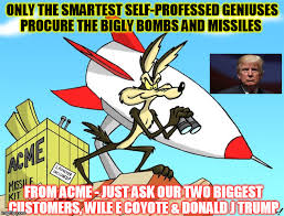 Wile E Coyote Meme - only the bigly moabs imgflip