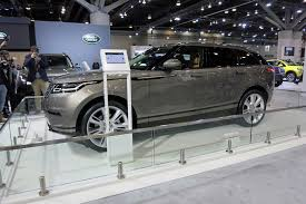 range rover pickup 2018 range rover velar on display in vancouver exhausted ca