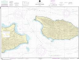 Channel Islands Map Us Charts Pacific Coast California Channel Islands Captain U0027s