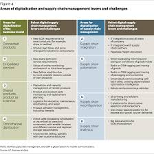 areas of digitization and supply chain management levers and